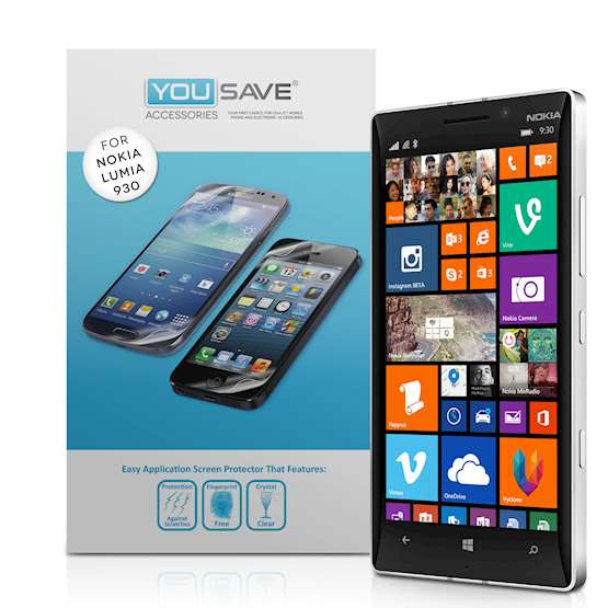 YouSave Accessories Accessories Nokia Lumia 920 Mm Screen Protectors 8 Pack