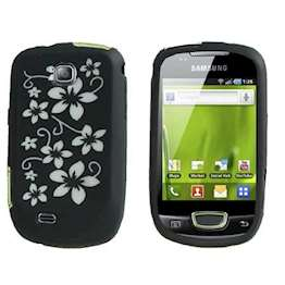 YouSave Accessories Accessories Black Floral Samsung Galaxy Mini S5570