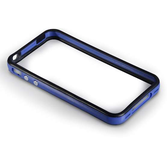 YouSave Accessories Accessories iPhone 4 Blue/Black Bumper Case