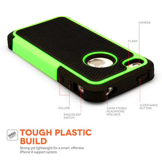 YouSave Accessories Accessories Apple iPhone 4 Grip Combo- Green