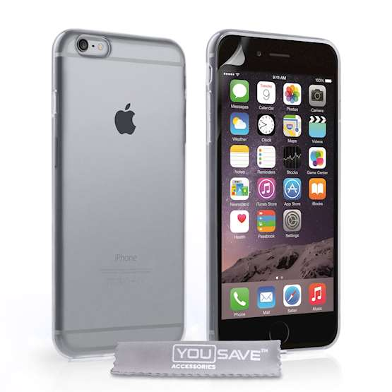 YouSave Accessories iPhone 6 Plus and 6s Plus Gel Case - Clear