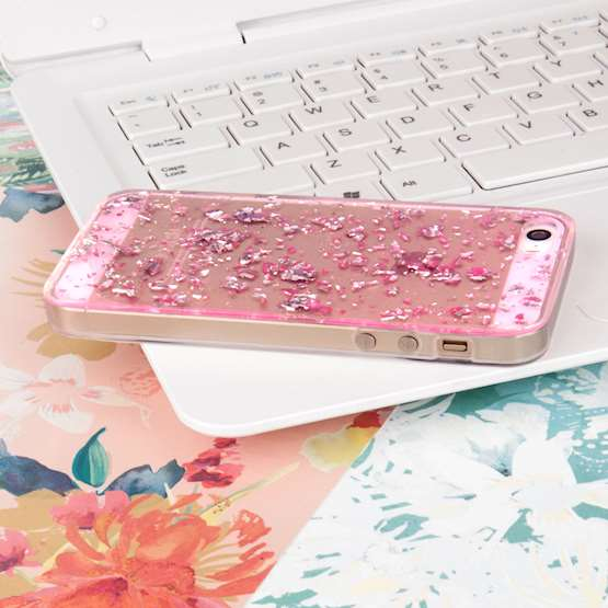 YouSave Accessories iPhone 5 and 5S / SE Tinfoil Soft Case - Pink