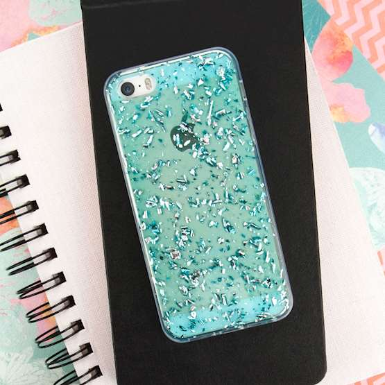 YouSave Accessories iPhone 5 and 5S / SE Tinfoil Soft Case - Blue