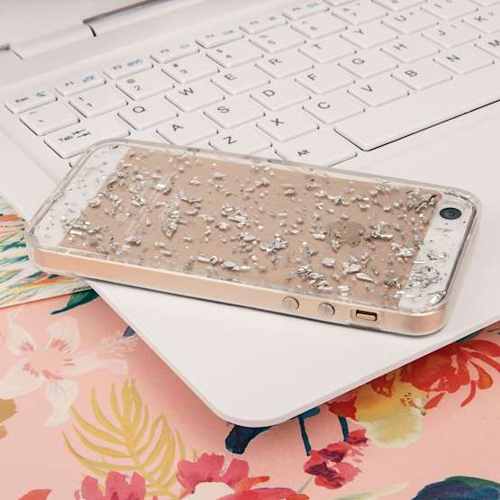 YouSave iPhone 5 / 5S and SE Tinfoil Soft Case - Silver