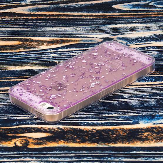 YouSave Accessories iPhone 5 and 5S / SE Tinfoil Soft Case - Purple