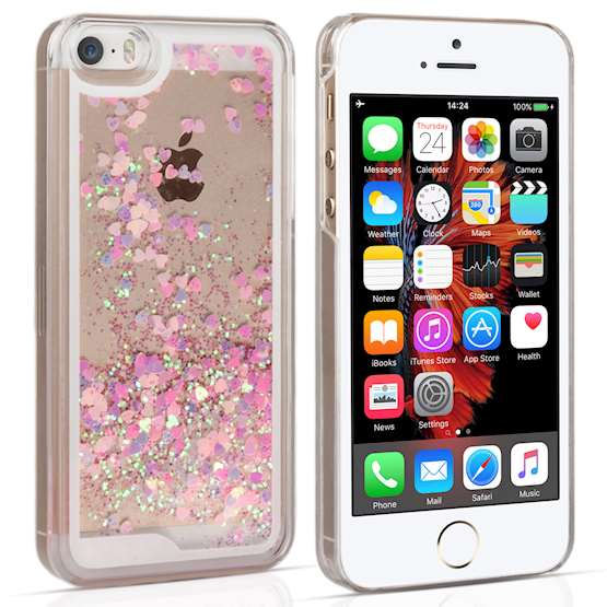 YouSave Accessories iPhone 5 and 5S / SE Quicksand Scale Hard Case - Pink
