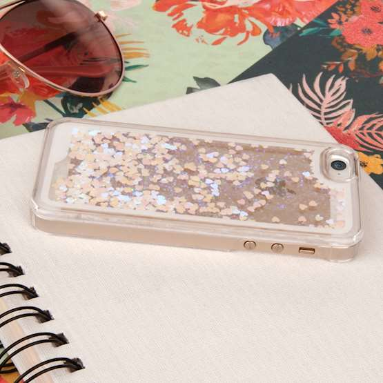 YouSave Accessories iPhone 5 and 5S / SE Quicksand Scale Hard Case - Silver