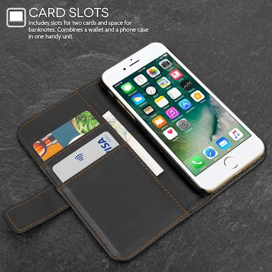 YouSave Accessories iPhone 7 Leather Effect Wallet - Black
