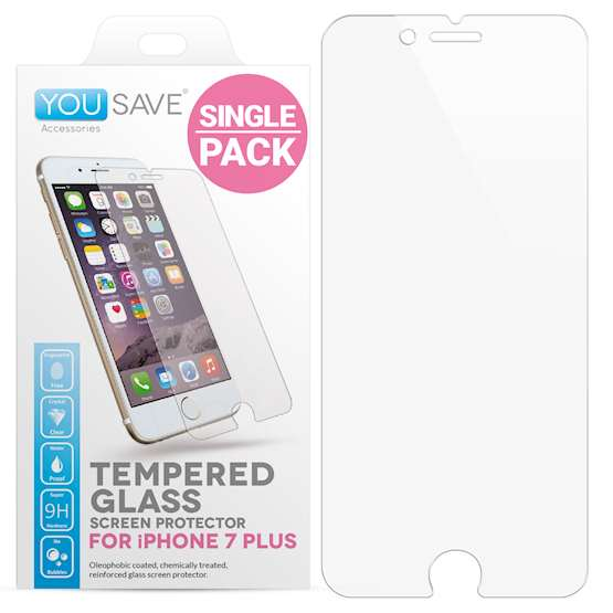 YouSave Accessories Accessories iPhone 7 Plus Glass Screen Protector