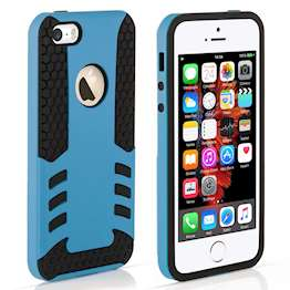 YouSave Accessories iPhone 5 and 5S / SE Border Combo Case - Blue