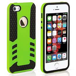 YouSave Accessories iPhone 5 and 5S / SE Border Combo Case - Green