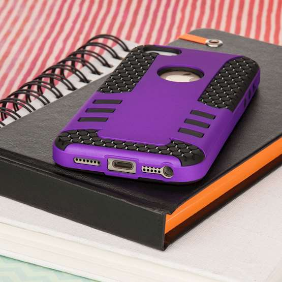 YouSave Accessories iPhone 5 and 5S / SE Border Combo Case - Purple