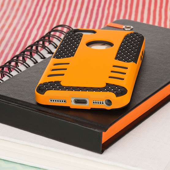 YouSave Accessories iPhone 5 and 5S / SE Border Combo Case - Orange