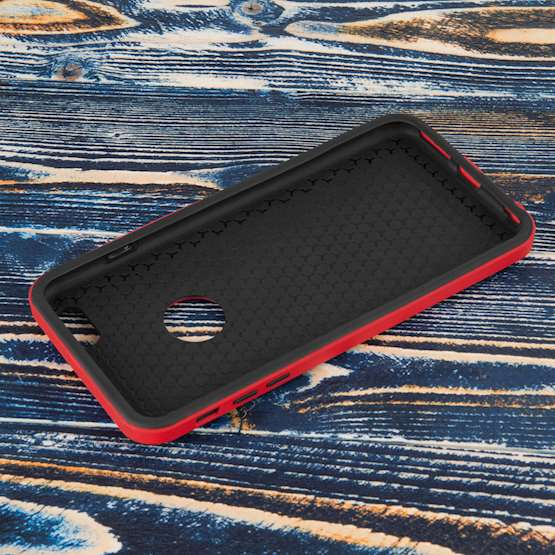 YouSave Accessories iPhone 6 Plus Border Combo Case - Red