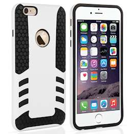 YouSave Accessories iPhone 6 Plus Border Combo Case - White