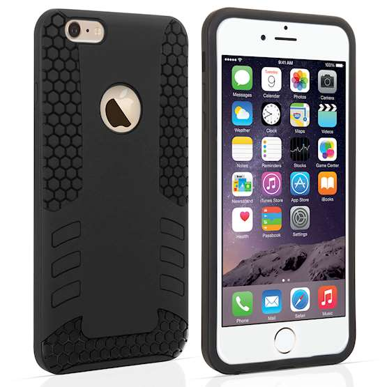 YouSave Accessories iPhone 6 Plus Border Combo Case - Black