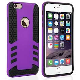 YouSave Accessories iPhone 6 Plus Border Combo Case - Purple