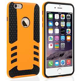 YouSave Accessories iPhone 6 Plus Border Combo Case - Orange