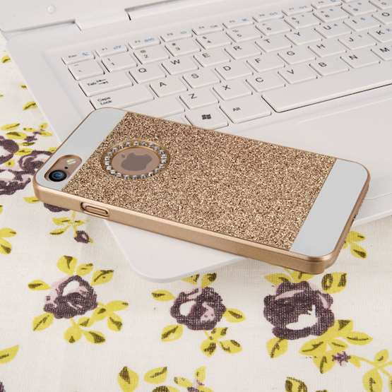 YouSave Accessories iPhone 7 Flash Diamond Case - Gold