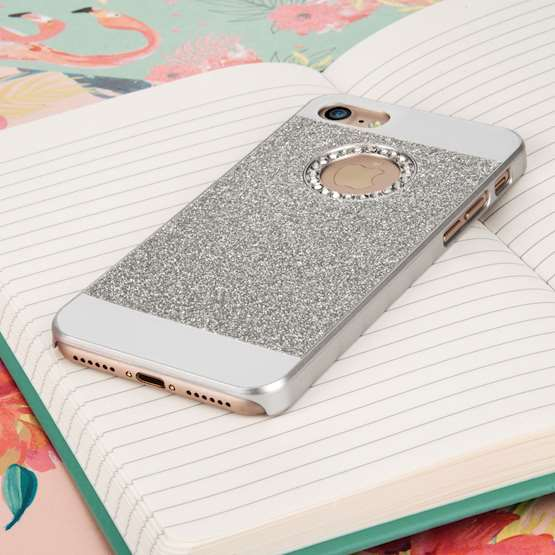 YouSave Accessories iPhone 7 Flash Diamond Case - Silver