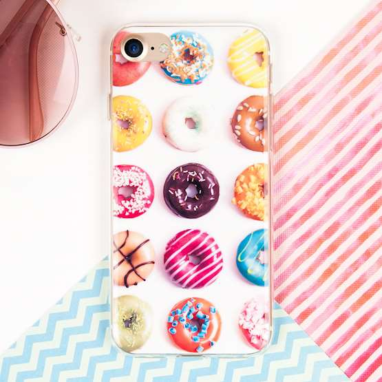 YouSave Accessories iPhone 7 Gel Case - Doughnut