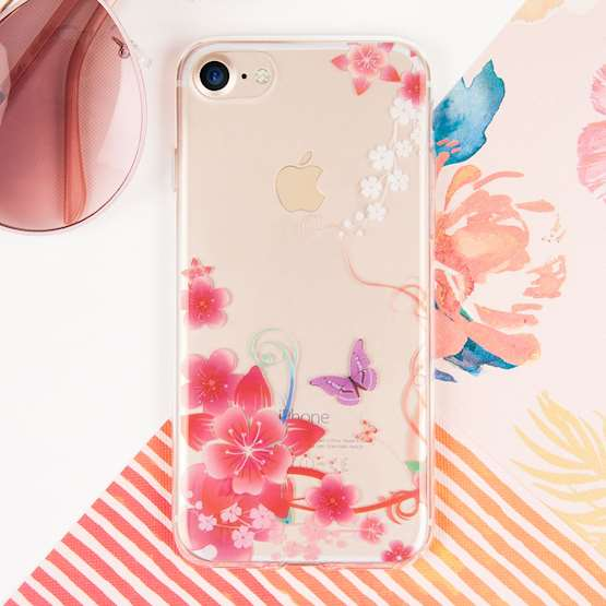 YouSave Accessories iPhone 7 Gel Case - Flowers