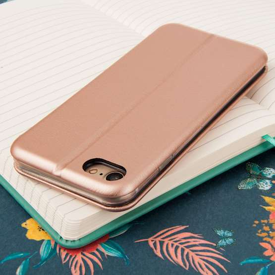 YouSave Accessories iPhone 7 Leather-Effect Stand Wallet - Gold