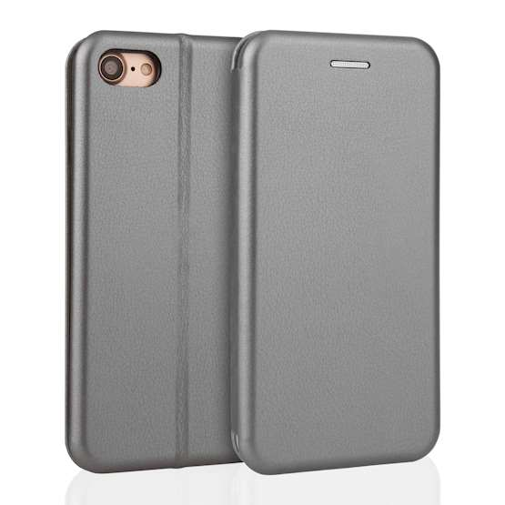 YouSave Accessories iPhone 7 Leather-Effect Stand Wallet - Grey