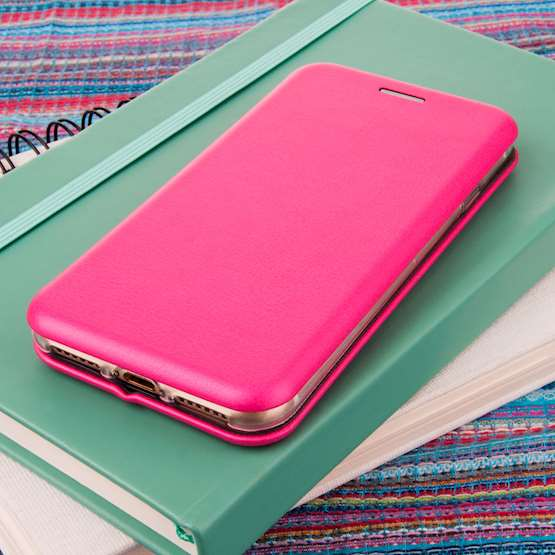 YouSave Accessories iPhone 7 Leather-Effect Stand Wallet - Pink
