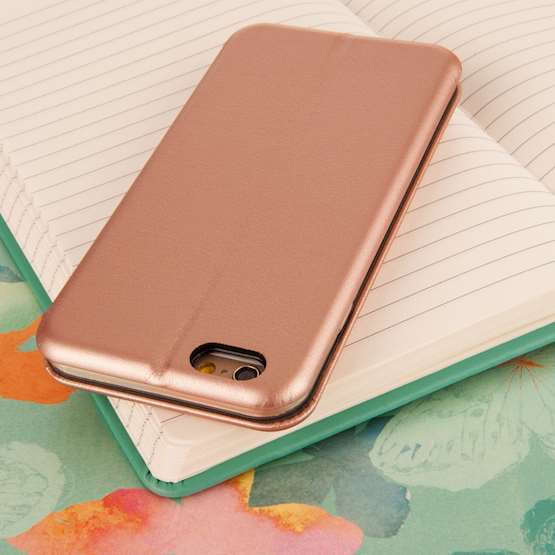 YouSave Accessories iPhone 6 and 6S Leather-Effect Stand Wallet - Gold
