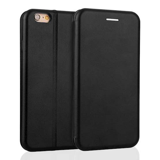 YouSave Accessories iPhone 6 and 6S Leather-Effect Stand Wallet - Black