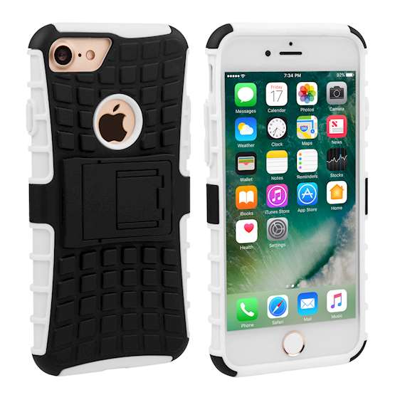 YouSave Accessories iPhone 7 Kickstand Combo Case - White