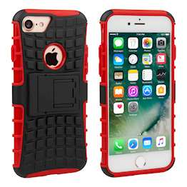 YouSave Accessories iPhone 7 Kickstand Combo Case - Red