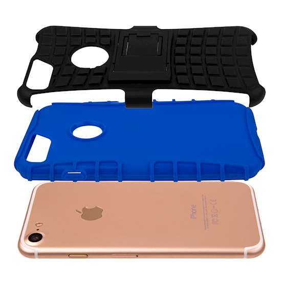 YouSave Accessories iPhone 7 Kickstand Combo Case - Blue