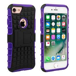 YouSave Accessories iPhone 7 Kickstand Combo Case - Purple