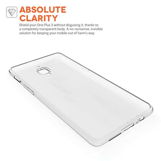 YouSave Accessories OnePlus Three Ultra Thin Clear Gel Case