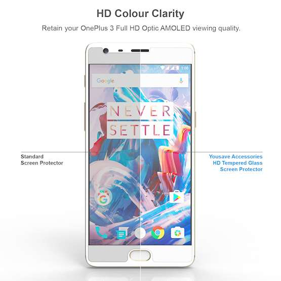 YouSave Accessories Accessories OnePlus Three Glass Screen Protector