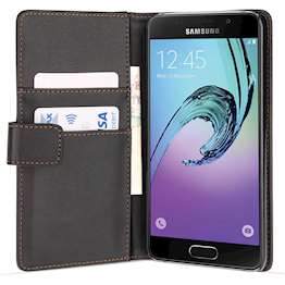 Samsung Galaxy A3 (2016) Leather-Effect Wallet Case - Black