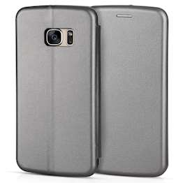 YouSave Accessories Accessories Samsung Galaxy S7 Leather-Effect Stand Wallet Case - Grey