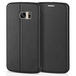 YouSave Accessories Accessories Samsung Galaxy S7 Leather-Effect Stand Wallet Case - Black