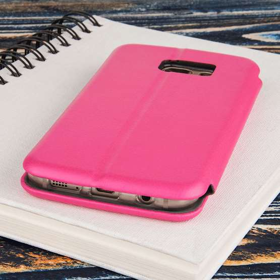 YouSave Accessories Accessories Samsung Galaxy S7 Leather-Effect Stand Wallet Case - Pink