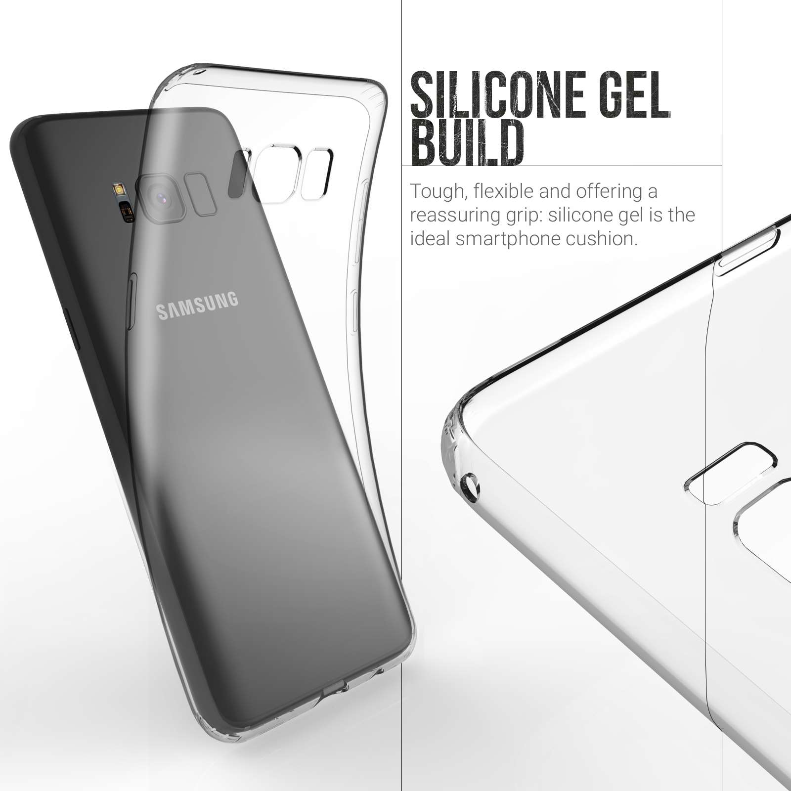 samsung s8 phone case clear silicone