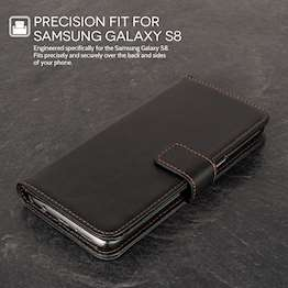 YouSave Accessories Samsung Galaxy S8 Leather-Effect Stand Wallet - Black