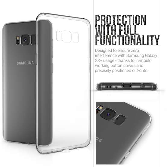 YouSave Accessories Samsung Galaxy S8 Plus Ultra Thin Gel Case - Clear