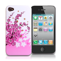 Yousave Accessories iPhone 4 / 4S Floral Bee Silicone Gel Case