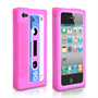 Yousave Accessories iPhone 4S Pink Cassette Case