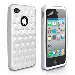 Yousave Accessories Apple iPhone 4 White Bubble Case
