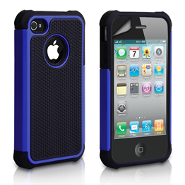 Yousave Accessories Apple iPhone 4 Grip Combo- Blue