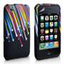 Yousave Accessories Apple iPhone 3G Shooting Star 6 Multicoloured Case