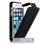 YouSave Accessories iPhone SE Leather Effect Flip Case - Black
